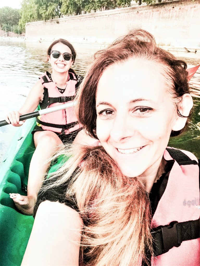 Kayaking Down the Garonne River