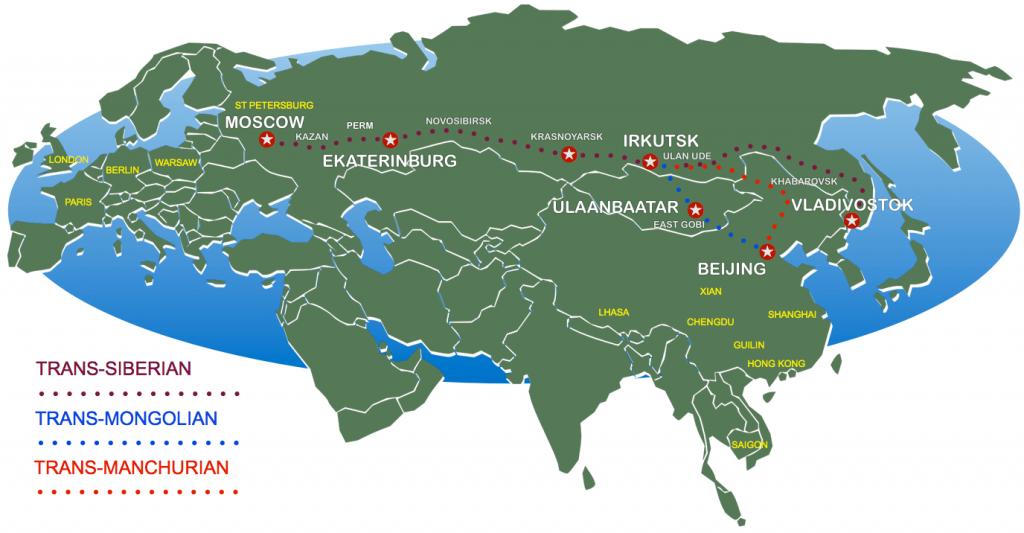 Transiberian Train Routes